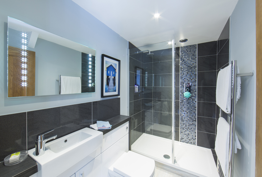 Shower room of C G Fry Ltd show home