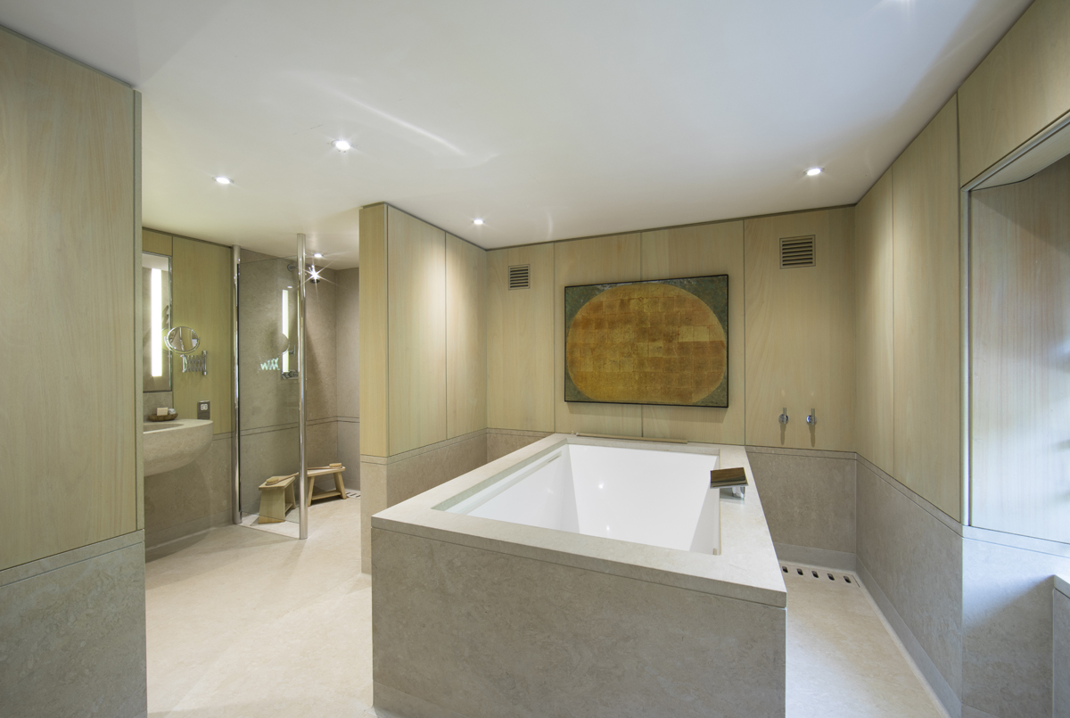 Japanese styled bathroom, private house.