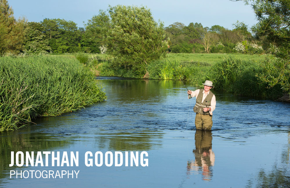 Fly fishing on the River Piddle, Dorset