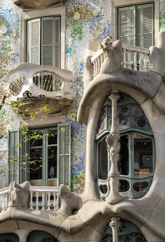 Gaudi building detail, Barcelona. Spain