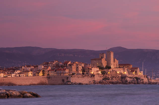 Old Town, Antibes, France at dawn