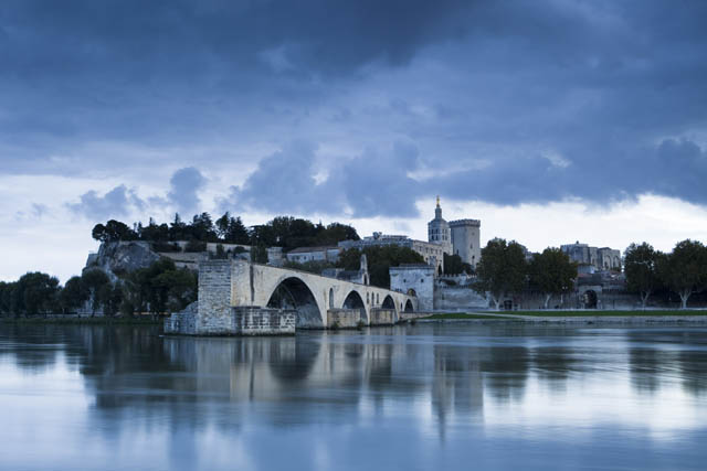 The bridge over The Rhone at Avignon, France