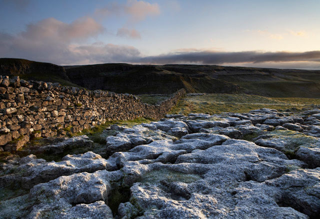 Frosty limestone pavement, Malham, Yorkshire