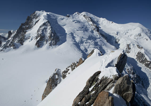 Summit of Mont Blanc, from France