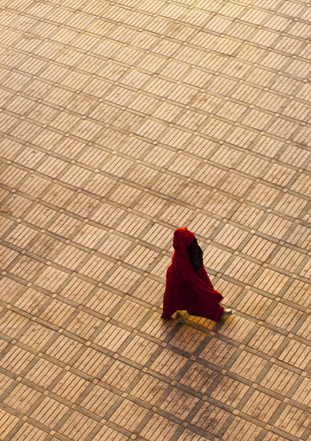 Woman walking in Marrakech